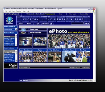 Everton Footbal Club Print Sales Site - ePhoto